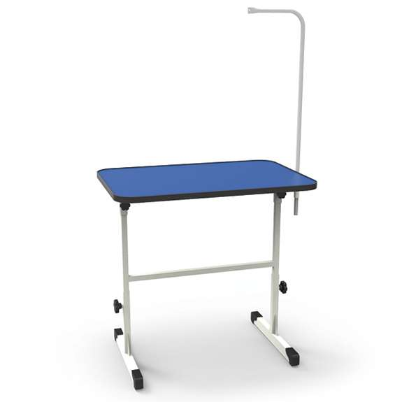 Mesa para Tosa Azul com Regulagem de Altura e Girafa